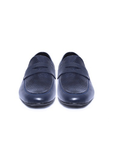 Wessi %100 Deri Loafer Ayakkabı Lacivert